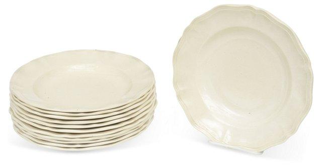 Creamware Soup Plates, Set of 12