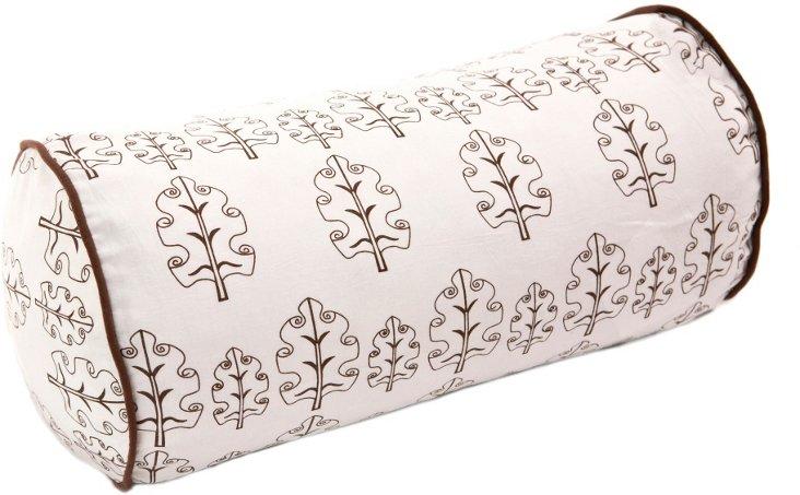 Leaf 8x17 Bolster Pillow, Brown