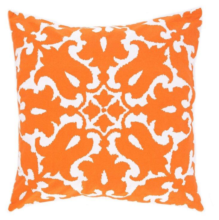 Sindoor 20x20 Cotton Pillow, Orange