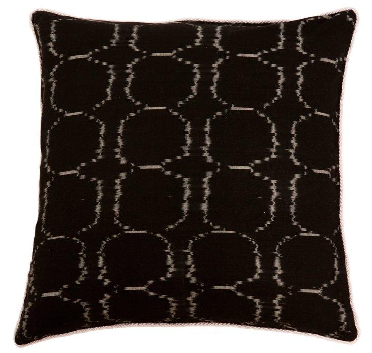 Pebbles 20x20 Cotton Pillow, Black