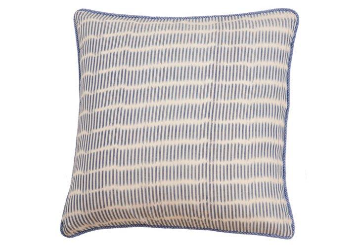 Monsoon 20x20 Pillow, Natural/Blue