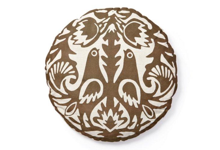 Kaja Round Pillow, Copper