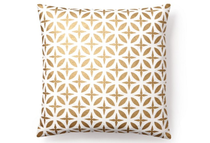 Troy 20x20 Pillow, Gold