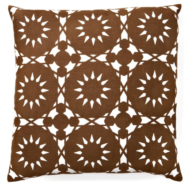 Casablanca 20x20 Pillow, Brown
