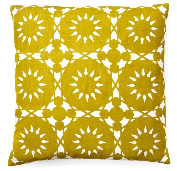 Casablanca 20x20 Cotton Pillow, Olive