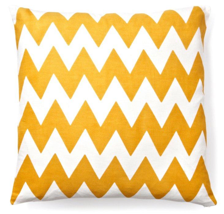 Altai 20x20 Cotton Pillow, Mustard