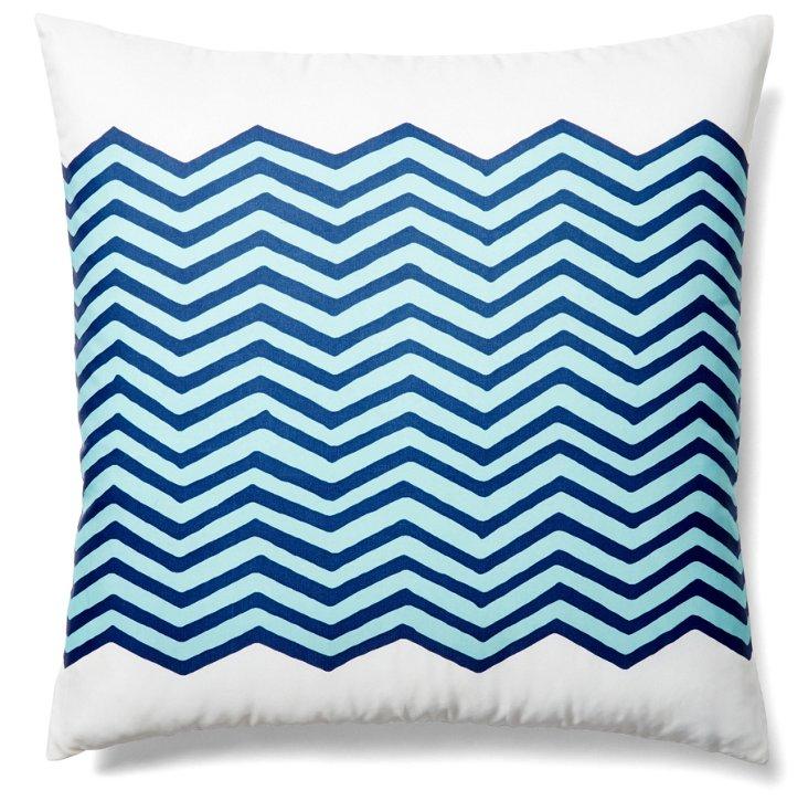 Waves 20x20 Outdoor Pillow, Navy