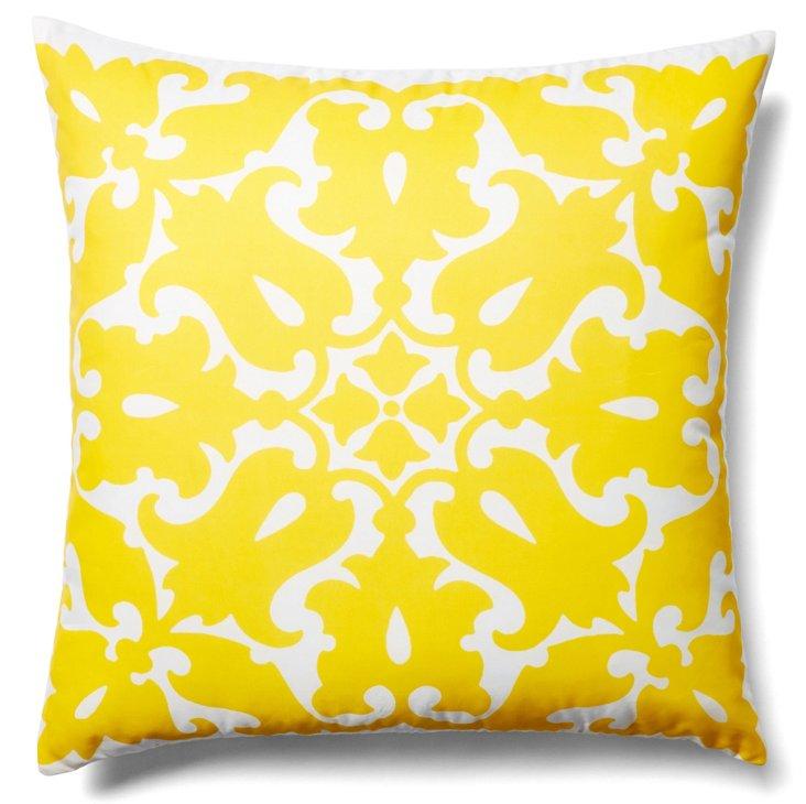 Sara 20x20 Outdoor Pillow, Yellow
