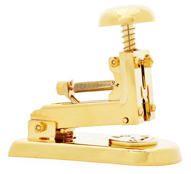 23K Gold-Plated Stapler