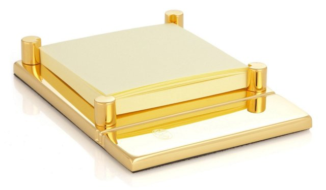 23K Gold-Plated Post-it Holder
