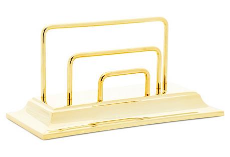 23K Gold-Plated Envelope Holder