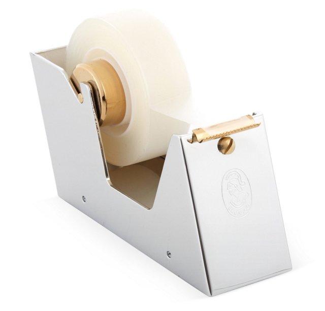 Chrome & Gold-Plated Tape Dispenser