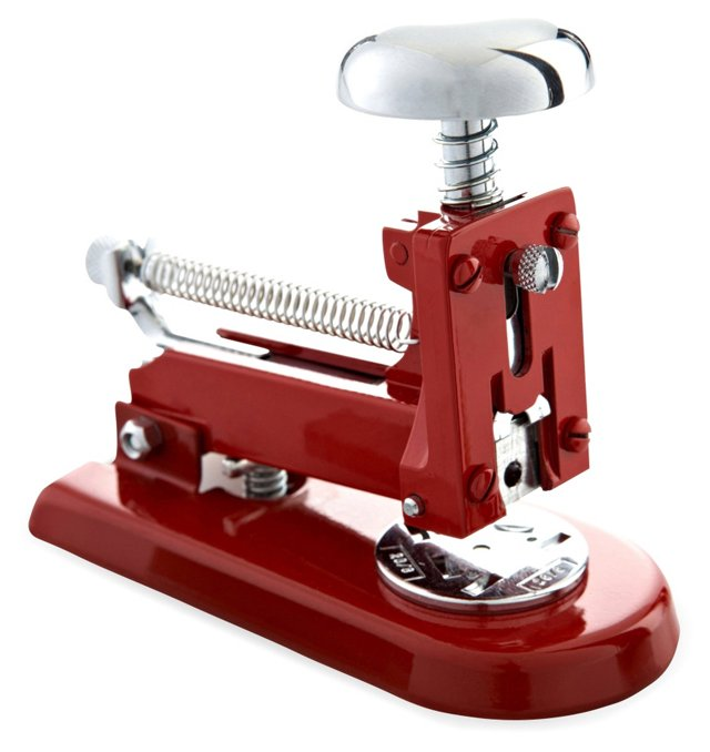 Chrome Stapler, Red