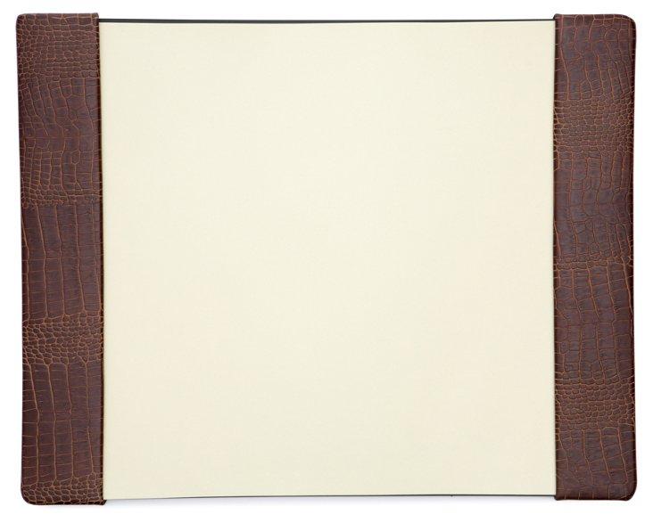 Croco Desk Pad, Brown