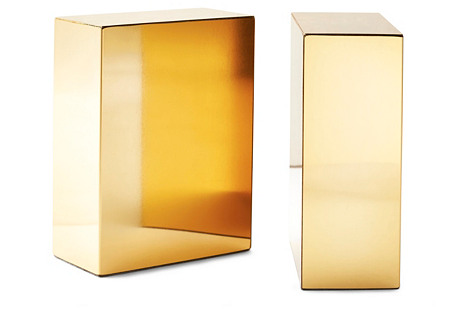Pair of Gold-Plated Bookends