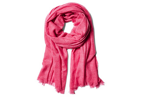 Cashmere  Gauze Scarf, Pink