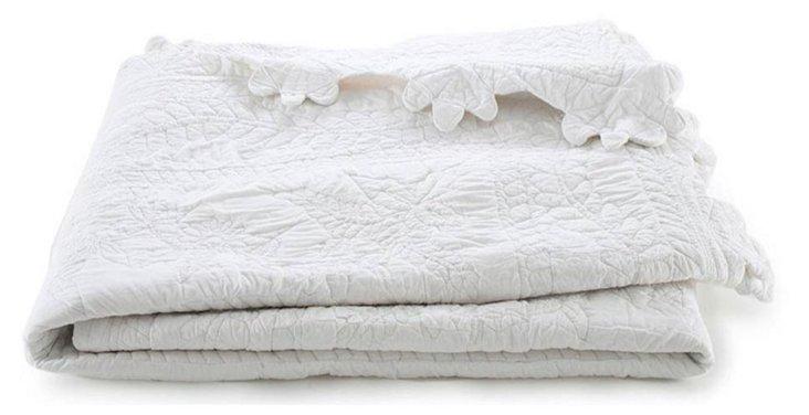 Charleston Quilt, White