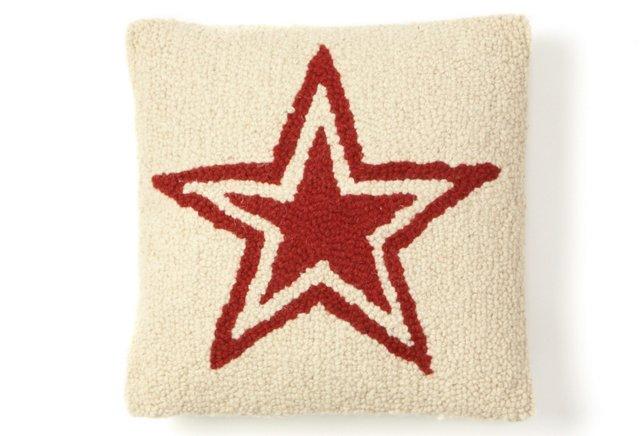Star Decorative Pillow Sham, Ivory