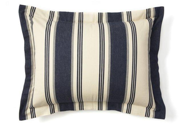 Cape Cod Standard Sham, Blue Stripe
