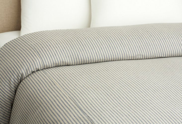 Qn Bernadatte Linen Duvet Cover, Blue