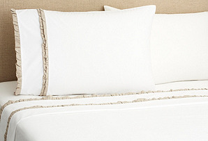 Petite Ruffle Sheet Set, Linen
