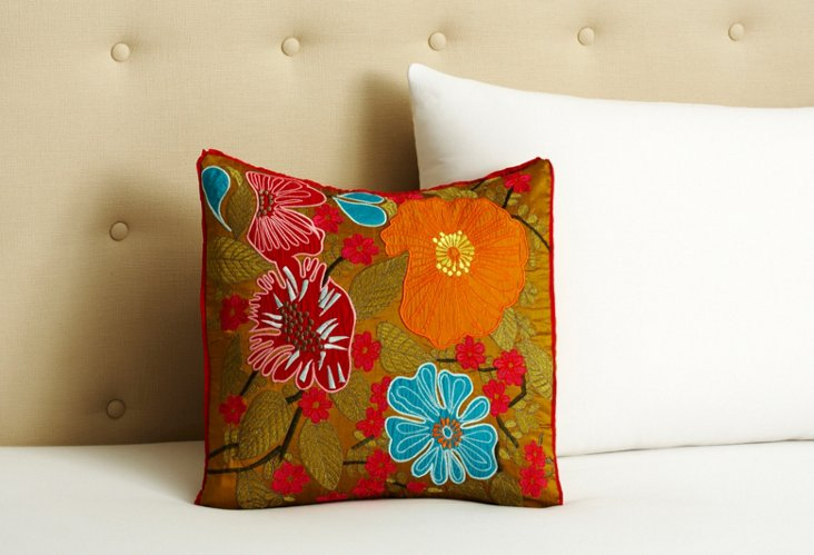 "Sweet William 15"" x 16"" Pillow"