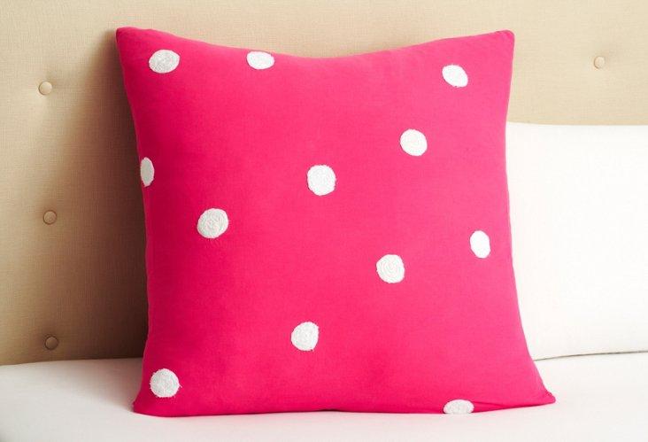 Polka Dot Euro, Pink