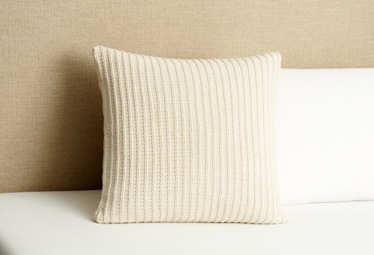 Sanderson Hand Knit Pillow, Natural