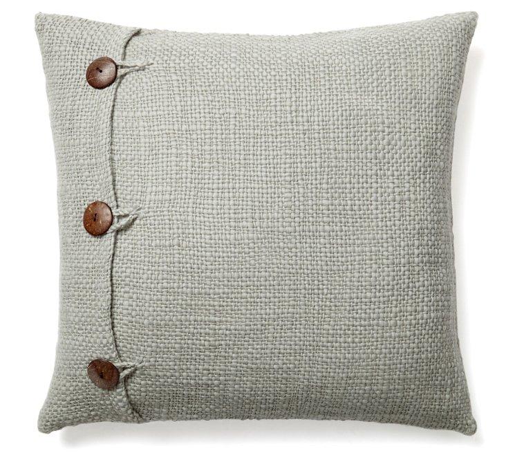Xavy 20x20 Wool Pillow, Duck Egg