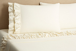 French Ruffle Sheet Set, Ivory