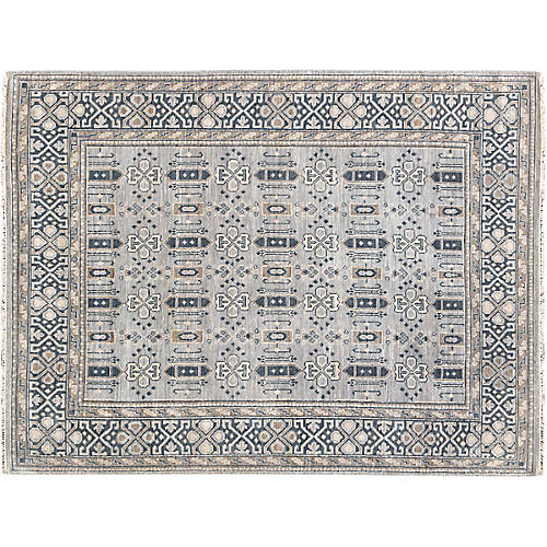 Willoughby Hand-Knotted Rug, Blue/Multi