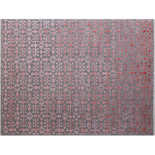 Barnaby Hand-Knotted Rug, Blush
