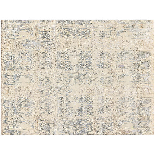 Degray Hand-Knotted Rug, Ivory/Multi