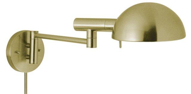 Dunham Swing-Arm Sconce, Satin Brass