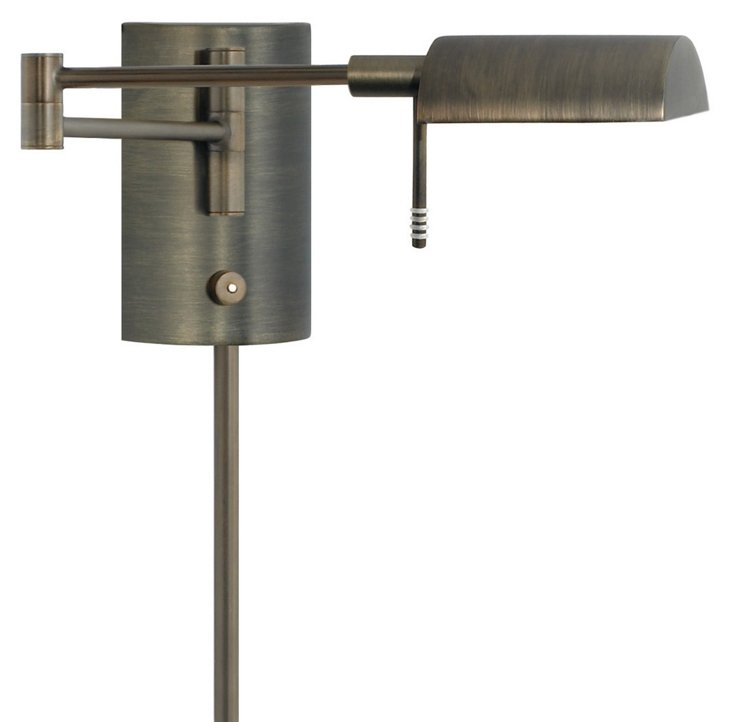 Devon Swing-Arm Sconce, Europa Bronze