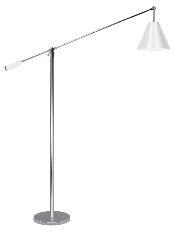 Unoluci Floor Lamp, Polished Chrome