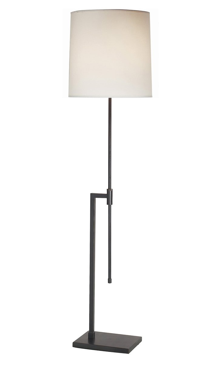 Palo Floor Lamp, Blackened Brass