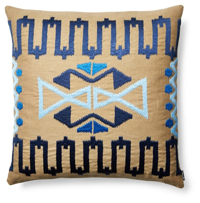Cabo 21x21 Sunbrella Pillow, Blue