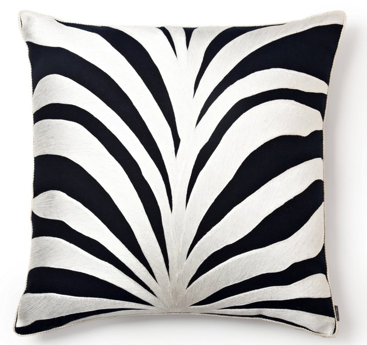 Cabo Palm 25x25 Pillow, Navy