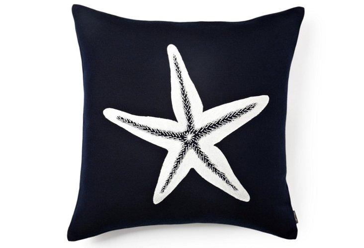 Harbor Starfish 21x21 Pillow, Navy