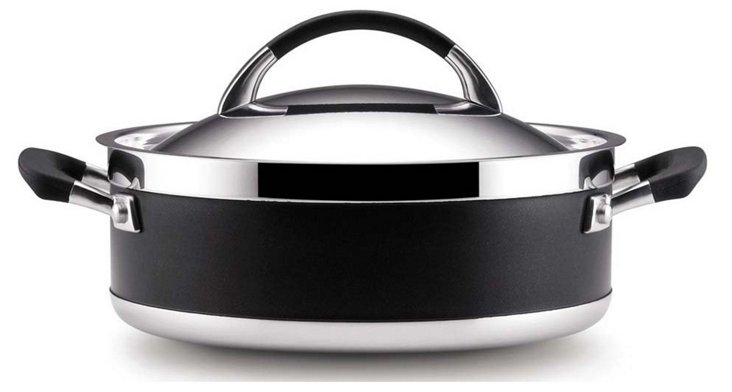 Covered Dutch Oven, Black/Silver