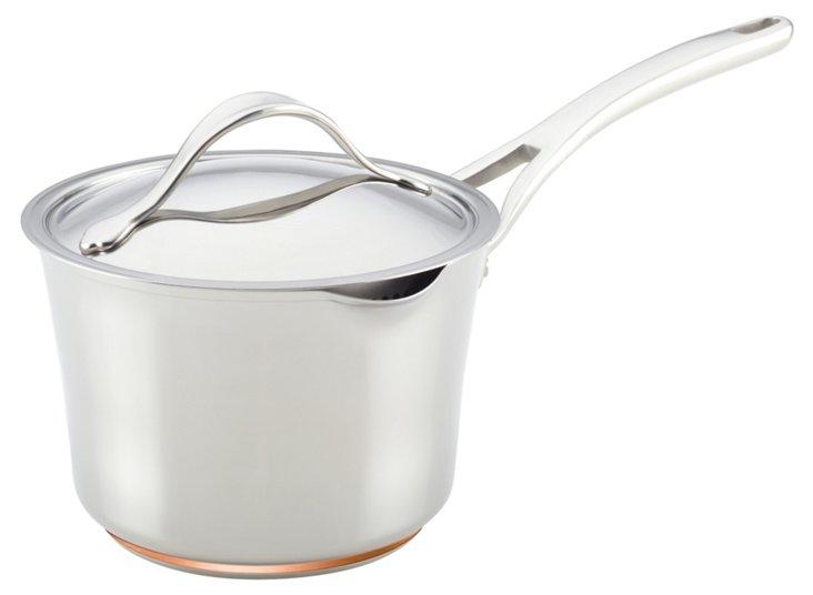 Nouvelle Saucepot w/ Lid, Silver