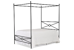 Volos Iron Canopy Bed, Charcoal*