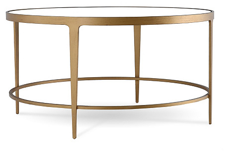 Stavrou Round Coffee Table, Gold