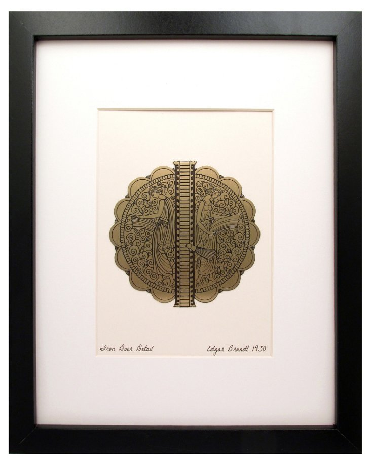 Iron Door Detail Etched Brass Print