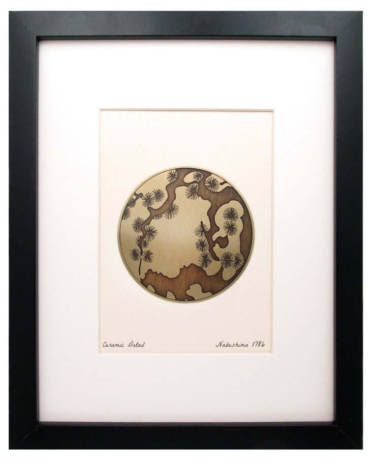 Ceramic Detail Etched Brass Print