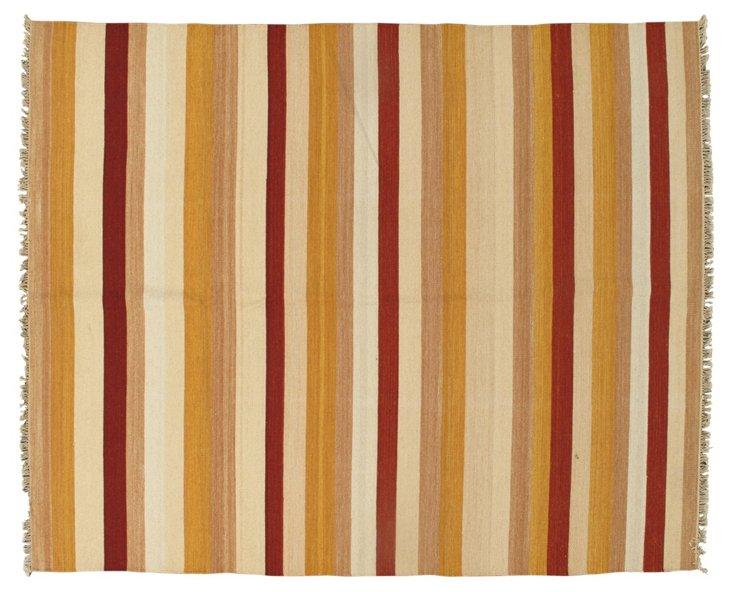 7'11''x9'9'' Kinwat Kilim Rug, Beige/Red