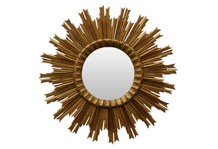 Kendra Sunburst Mirror, Gold