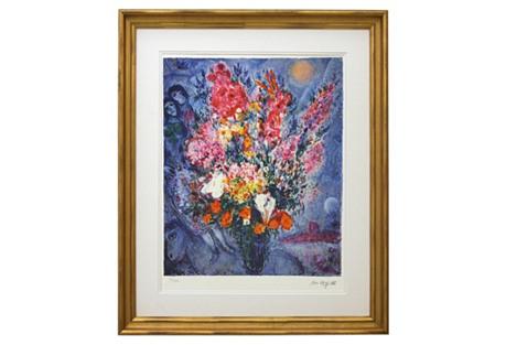 Marc Chagall, Blue Bouquet