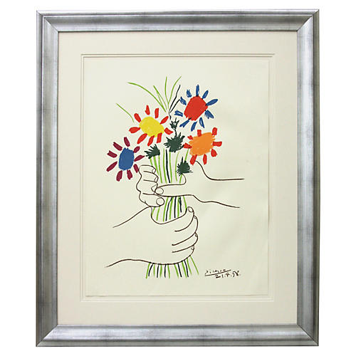 Pablo Picasso, Hands with Flowers